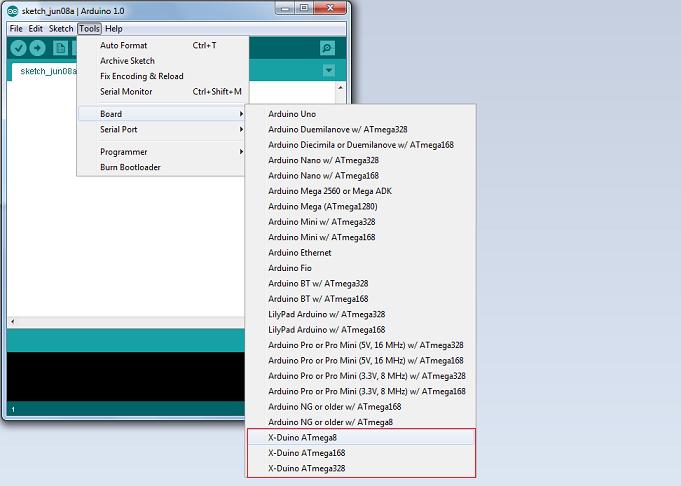 Lista de placas suportadas pela IDE
