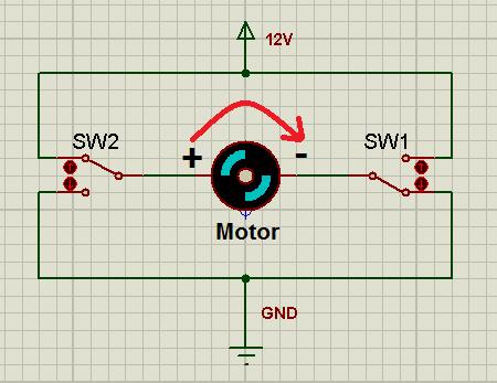 Motor girando no sentido normal.