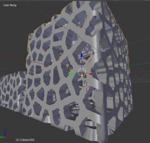 Cubo porta objetos Voronoi